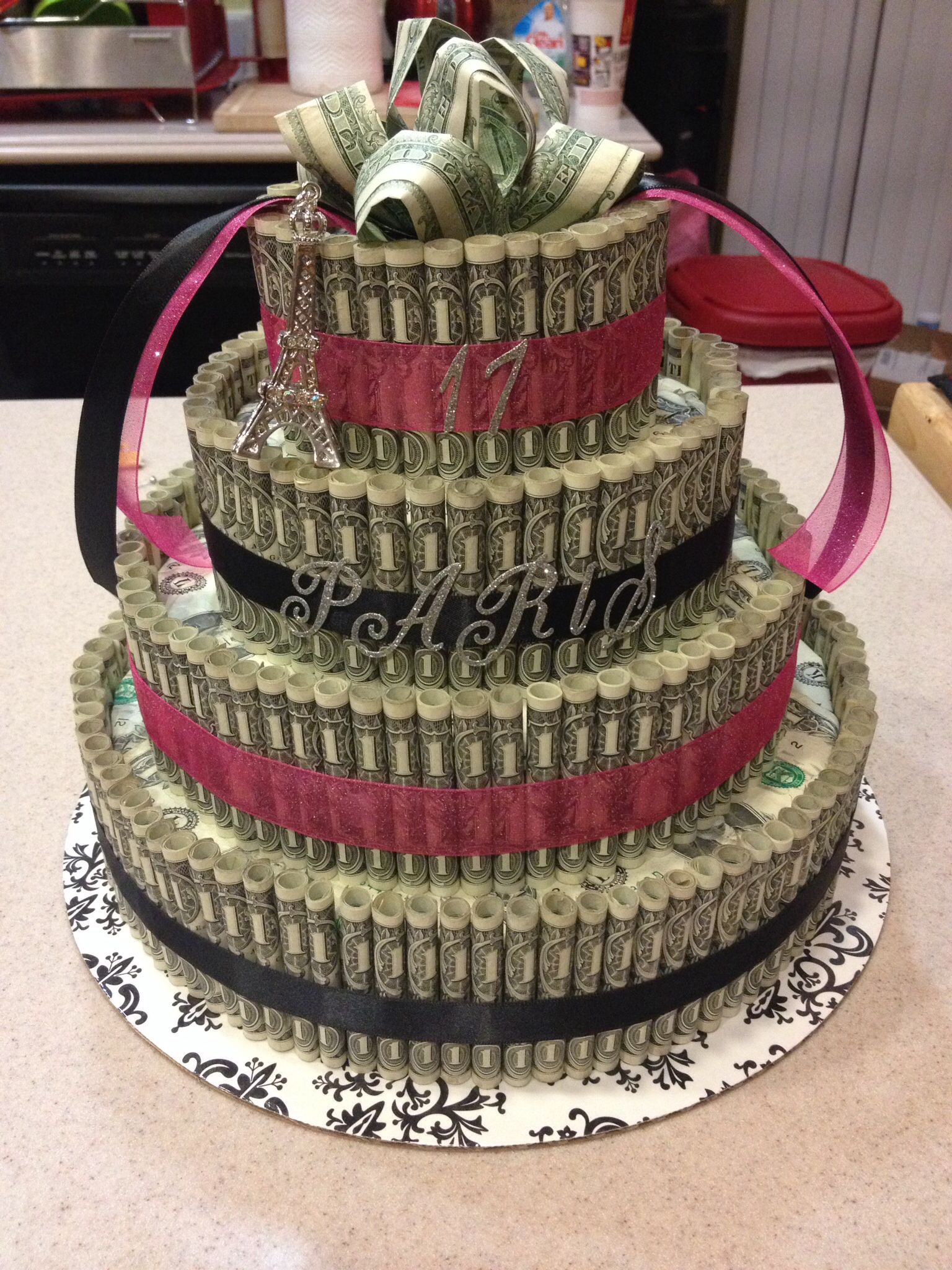 Paris Birthday Money Cake Ideas For Aris Sweet 16 Pinterest