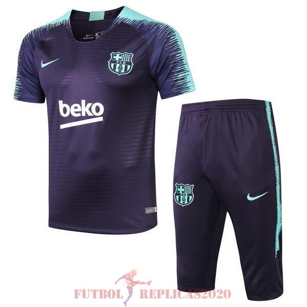 Agrícola Enderezar borgoña  Camisetas De Futbol Imitacion Entrenamiento Conjunto Completo Barcelona 2018  2019 Azul Verde