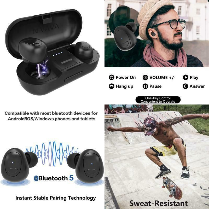 Nivava D9 True Wireless Earbuds Bluetooth 5 0 Headphones 3d Stereo Sound Ipx5 Nivava Earbuds Wireless Earbuds Ipx5
