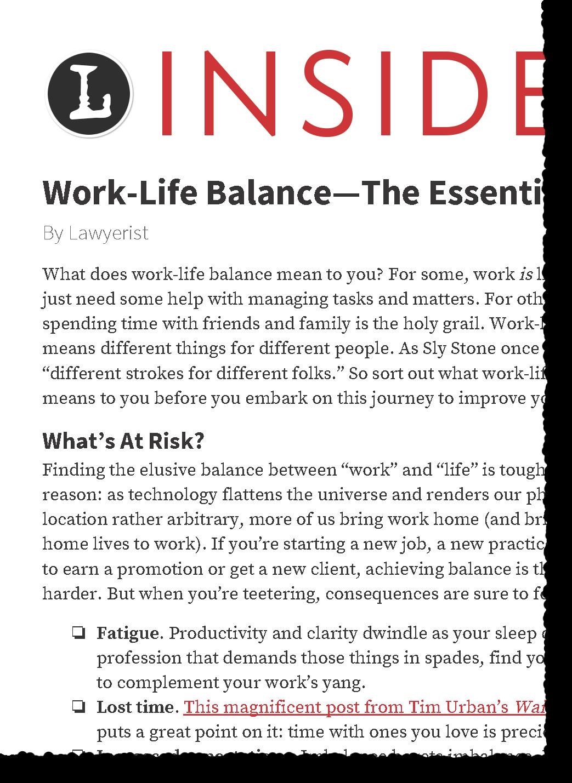 Lawyer Work Life Balance Work Life Balance Working Life Work