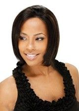 Real 10Inch Silky Straight #1B/30 Remy Human Hair Glueless Full Lace Wig