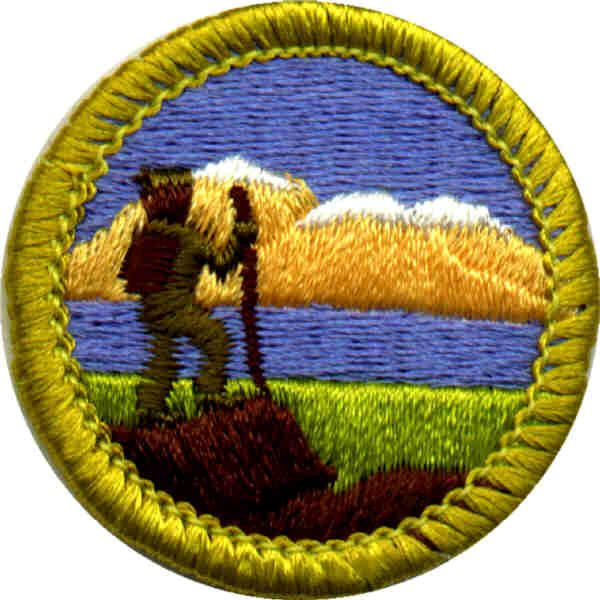 NATURE HIKE Iron On Patch Scout Cub Girl Boy  HIking