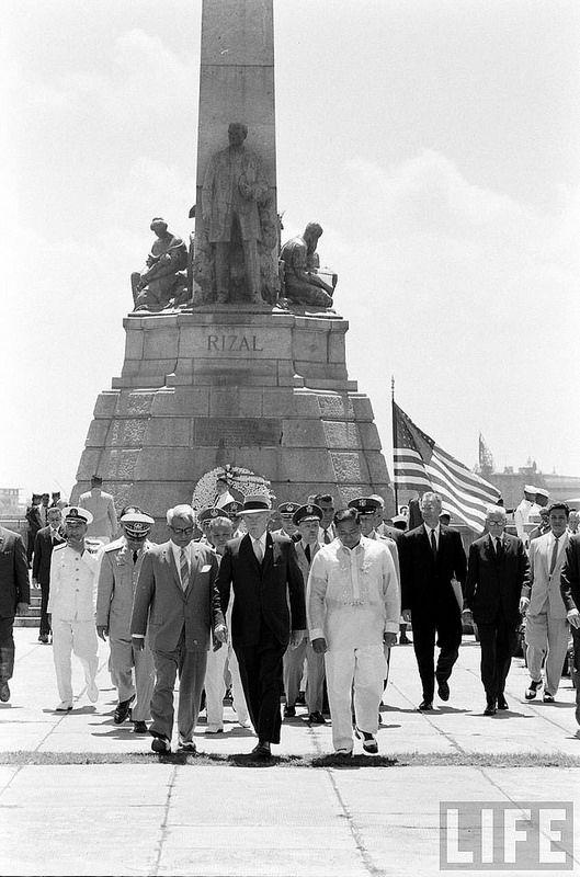 U S President Eisenhower At The Wreath Laying Ceremony For National Hero Dr Jose Rizal At Luneta Park Manila Philippines Culture Manila Philippines Jose Rizal