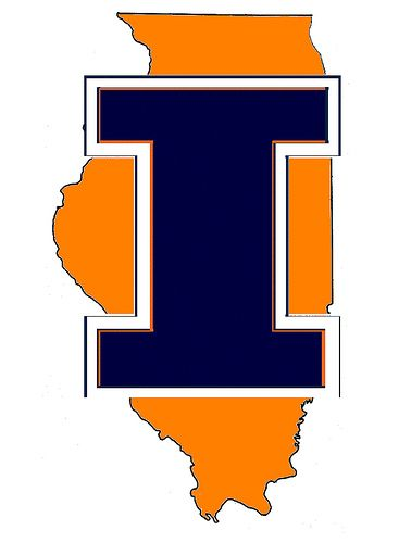 Illini Logo Fighting Illini Illinois Football Urbana