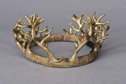 "Headdresses Pagan: Renly Baratheon's #Crowm, from Costume Designer Michele Clapton, for ""Game Of Thrones."""