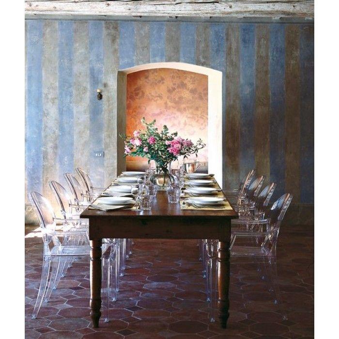 sedia barocca kartell Louis Ghost Trasparente | Dining room ...