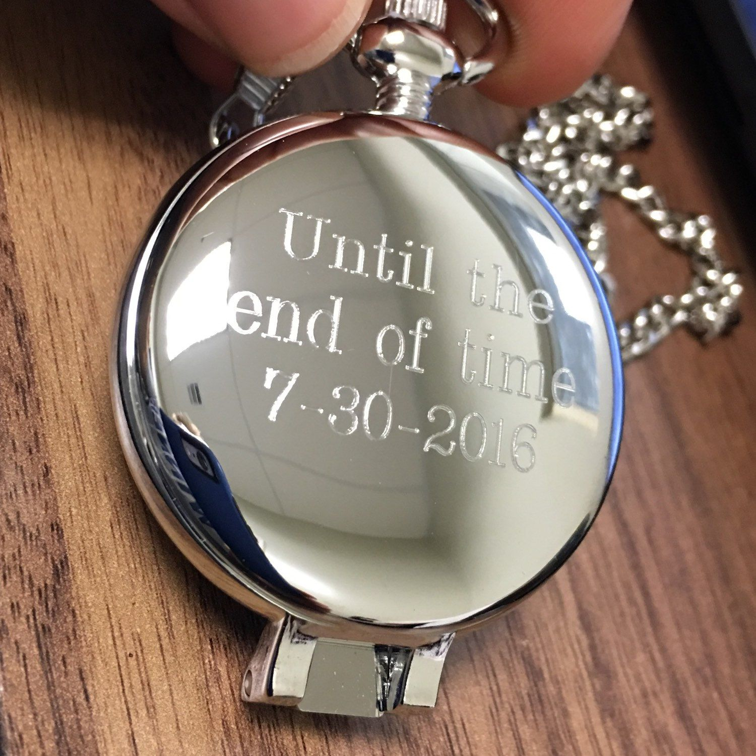 Personalized Pocket Watch Set, Groomsman Gift, Groomsman