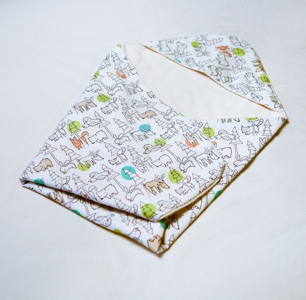"""Organic Baby Bedding Collection """"Forest Animals"""" Organic"""