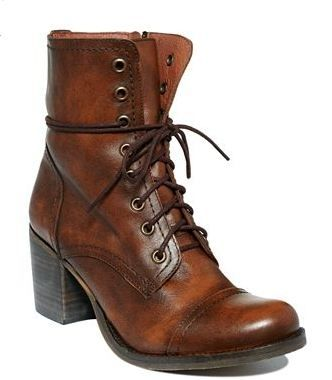 Steve Madden Grannie Booties ($129) - Add tights and legwarmers. or skinny jeans and oversized jacket.