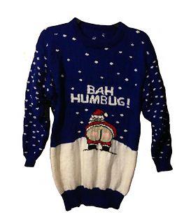 Fair Isle Christmas Jumper T Shirt Bah Humbug