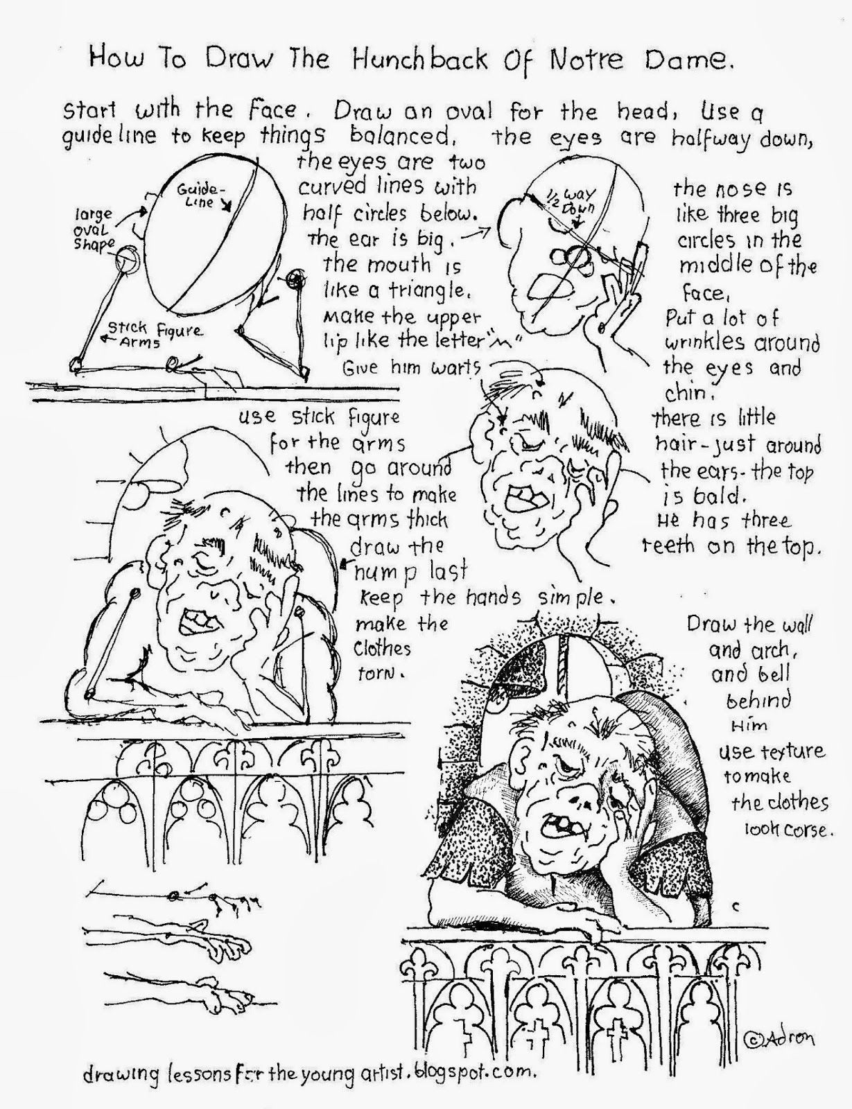 How to draw the hunchback of notre dame worksheet. See more at my ...