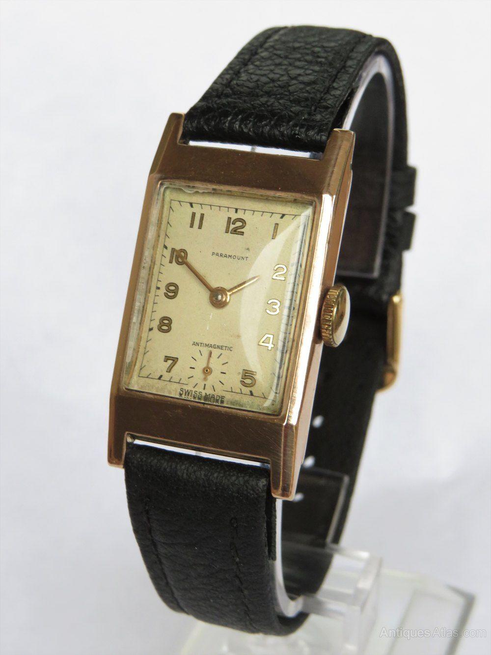 Antiques atlas gents 9ct gold paramount art deco wrist