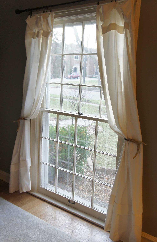 Deer Antler Curtain Tie Back Curtains Living Room Farm House