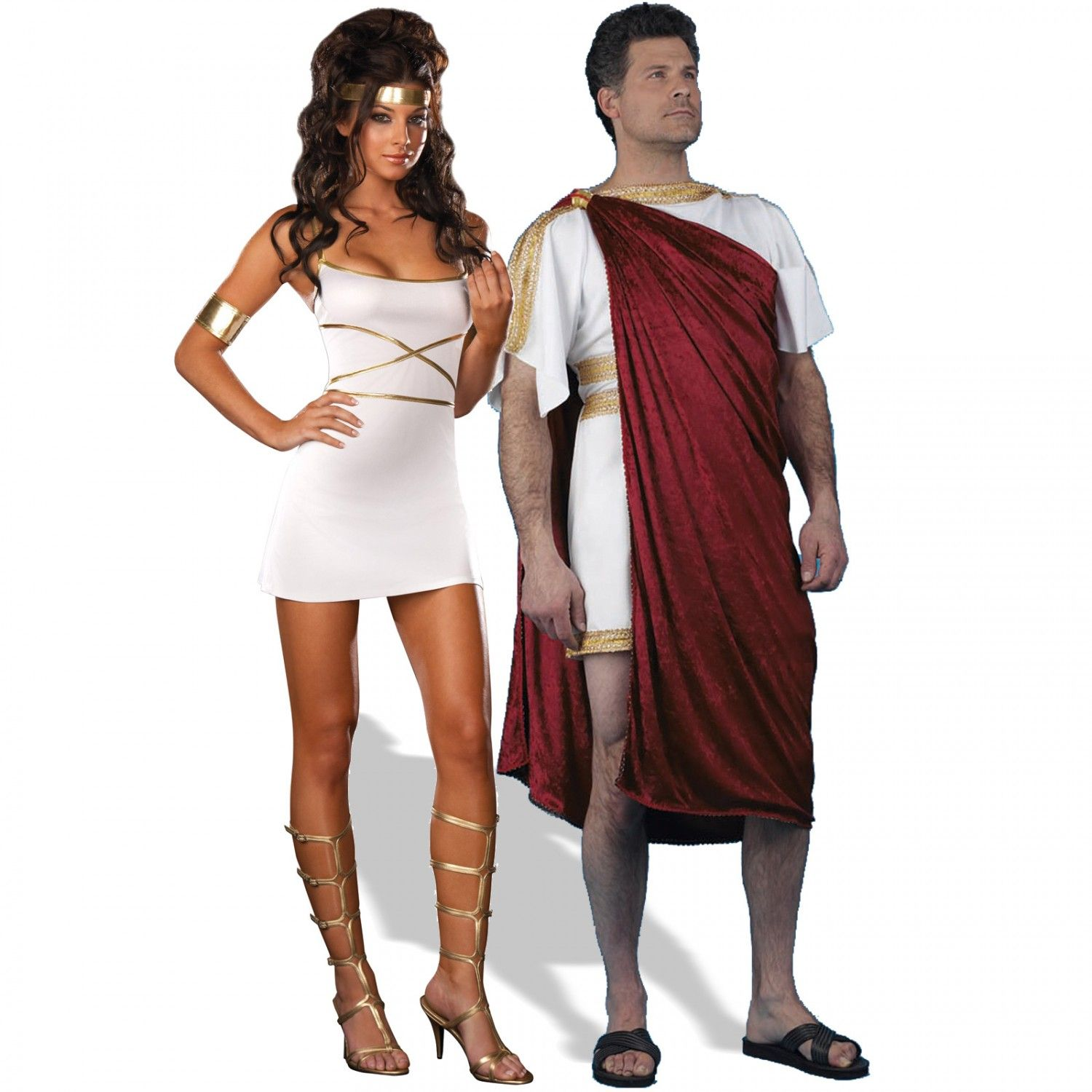 oh my goddess and roman god couples costume image