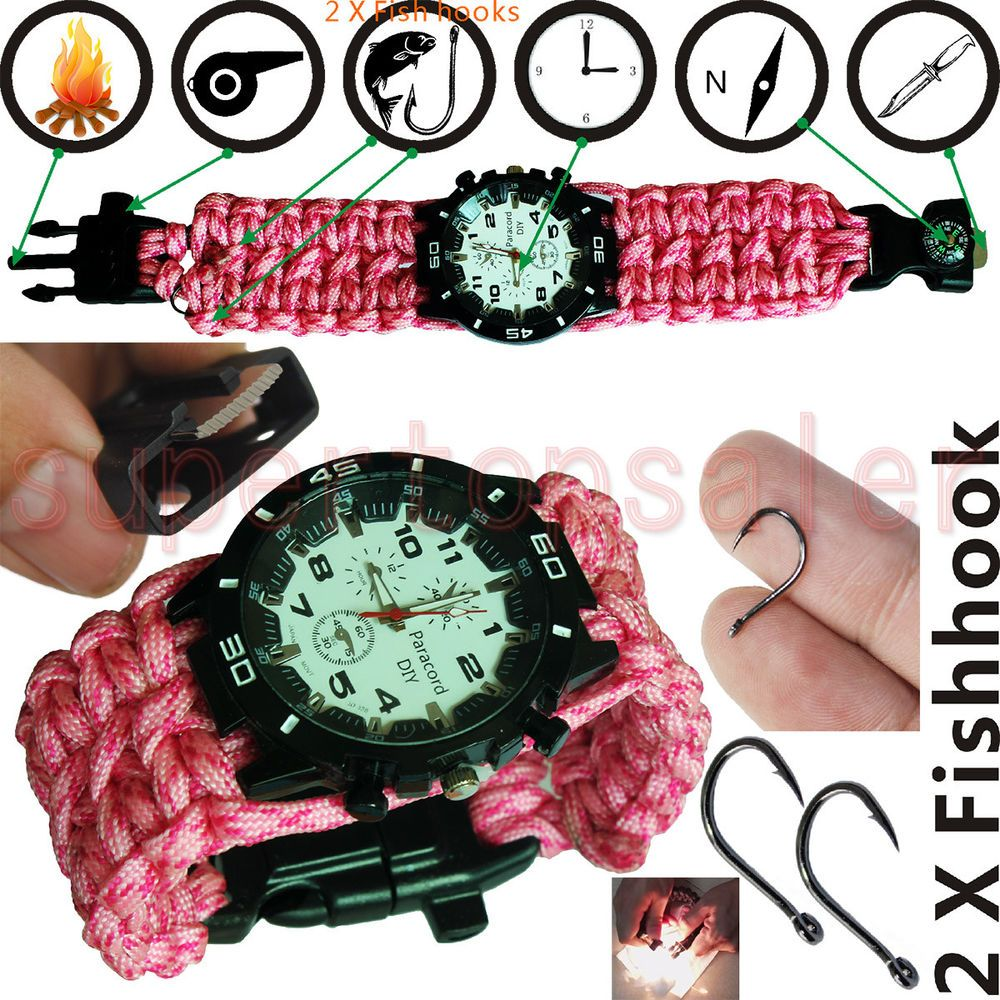Outdoor Tactics Wrist Type Compass Military Survival Strap Band Hiking Gear SD