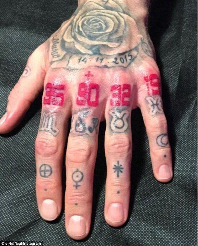 Sergio Ramos Shows Off Symbolic Numbers Inked On His Hand Sergio