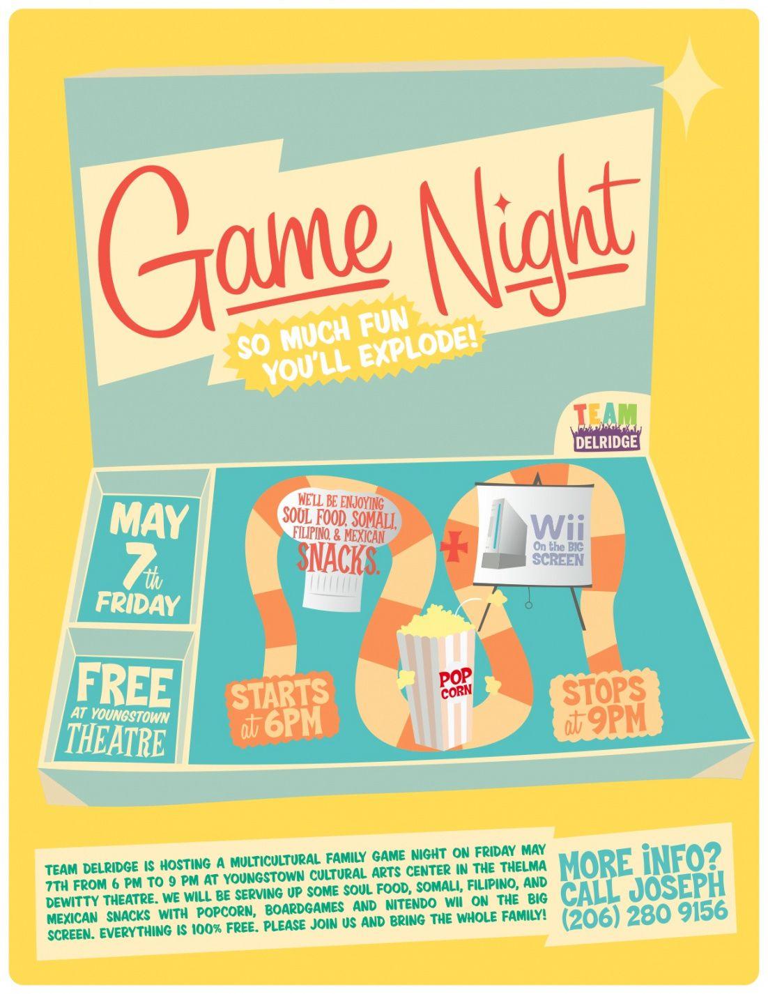 Best Family Game Night Flyer Sazakmouldingsco Family Game