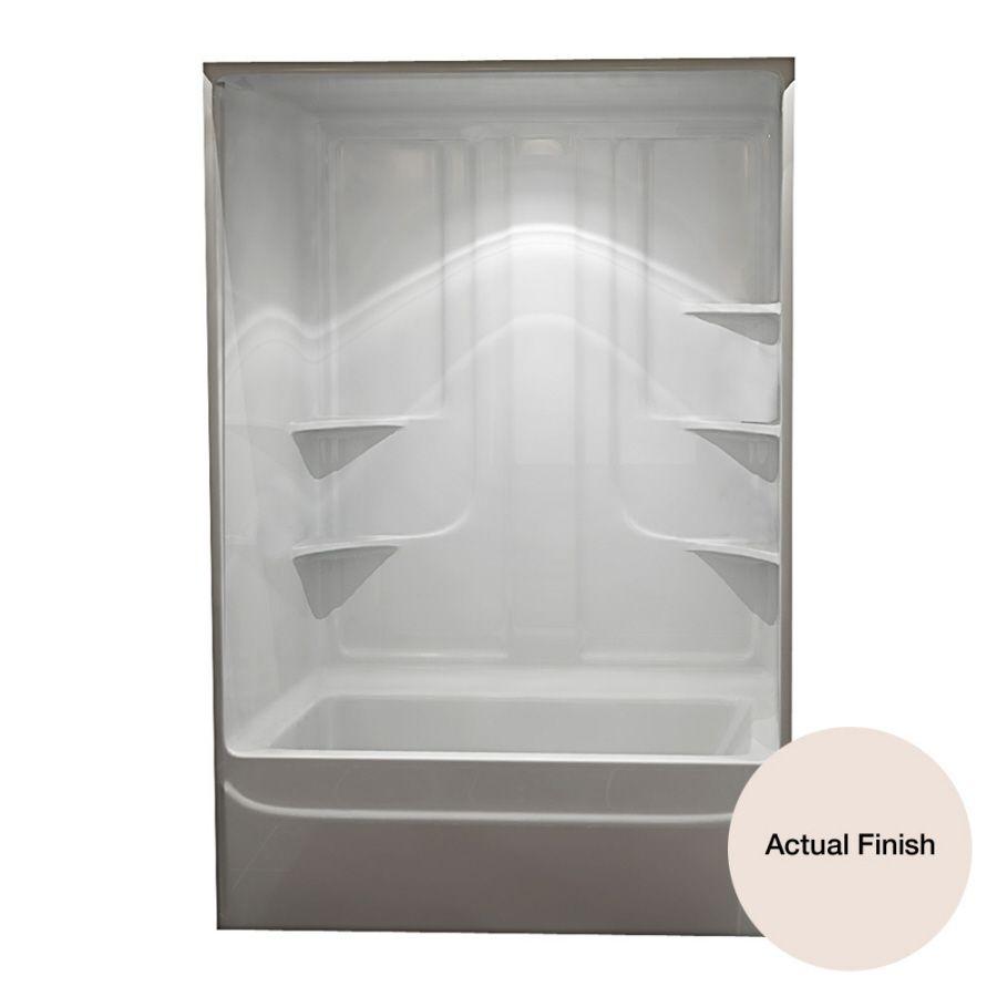 Aqua Glass 90-in H x 60-in W x 35-1/4-in L Biscuit 1-Piece ...