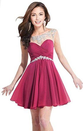 f3b376c9ae85 Amazon.com: Butmoon Women's Sexy Short Prom Dresses 2016 Homecoming Dresses  for Juniors: Clothing