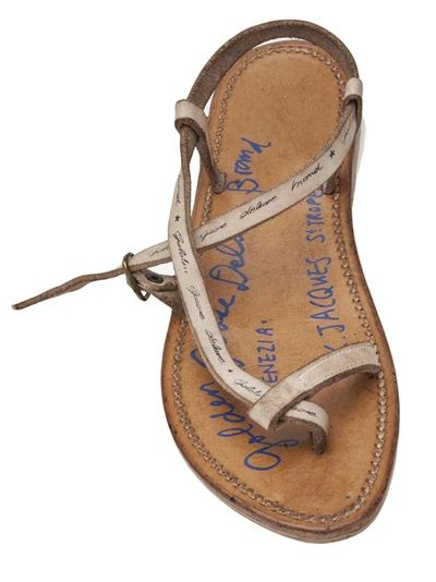 aeac316831ccfe Golden Goose Deluxe Brand  jival  Signed Sandal - A maree s - Farfetch.com