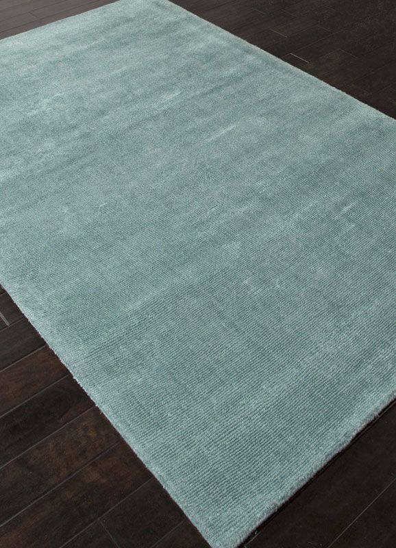 Jaipur Rugs Rug108123 Solids Handloom Solid Pattern Wool Art Silk Blue Area Rug
