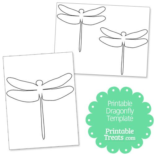 Printable Dragonfly Template Paper Dragonflies Template Printable Dragon Fly Craft