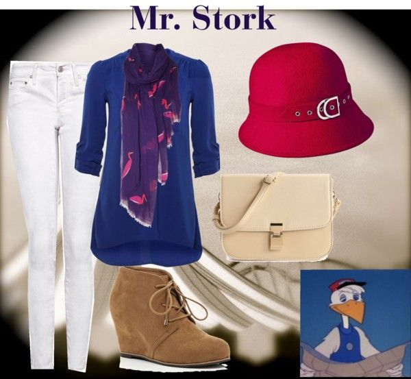 """Mr. Stork"" by disneyfan14 ❤ liked on Polyvore"