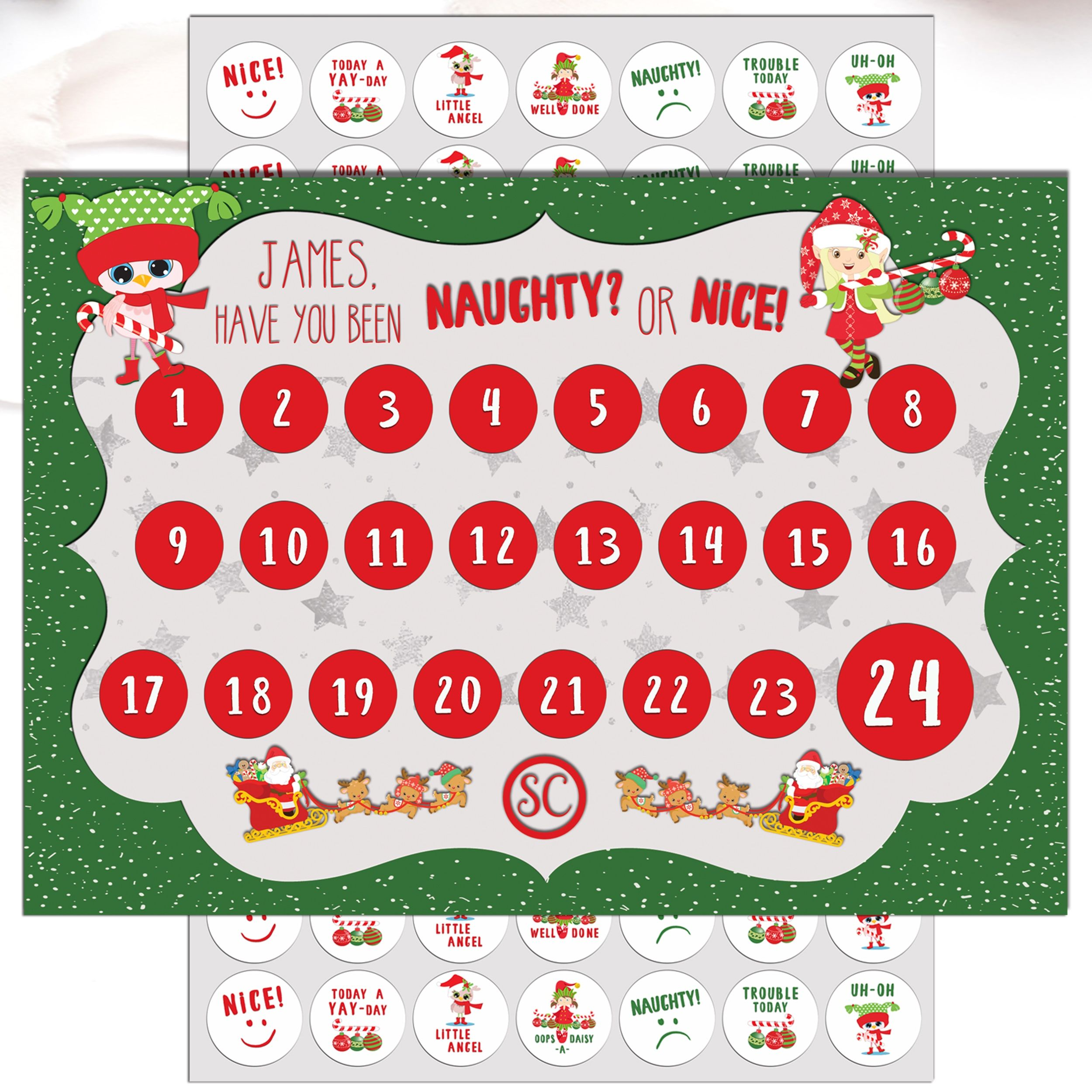 A Great Fun Countdown To Christmas Have You Been Naughty Or Nice