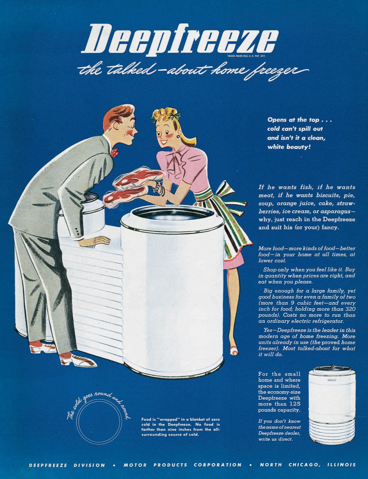 Ad Freezer Retro Advertising Vintage Advertising Art Vintage Advertisements
