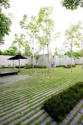 Etonnant Modern Zen Garden Area   Theme Urban Nature. Stock Photo