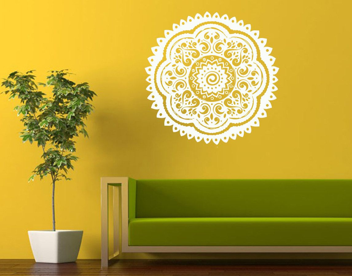 Wall Decals Indian Ornament Mandala Home Vinyl Decal by DecalHouse ...