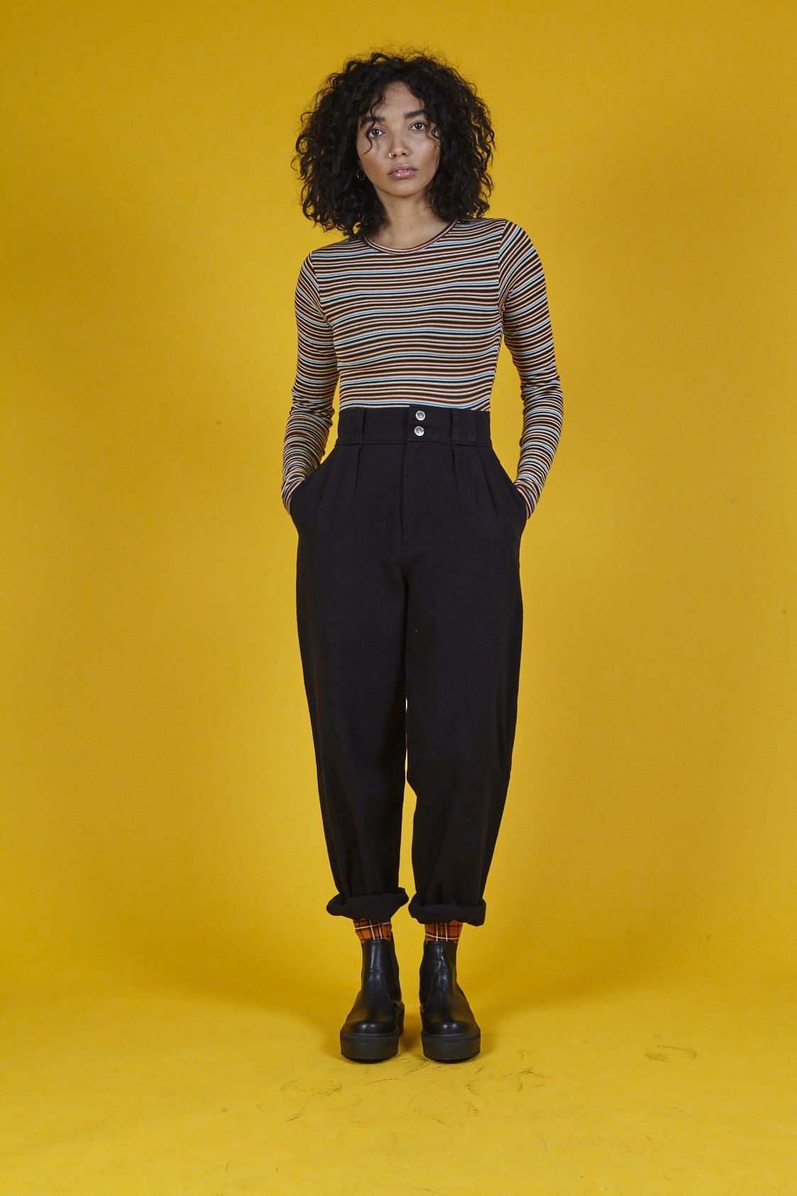 fbd1bcf61a6b6 Addison  High Waisted Organic Cotton Twill Jeans in Black   Yes ...