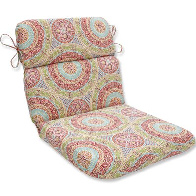 Pillow Perfect Delancey Jubilee Rounded Dining Chair Cushion