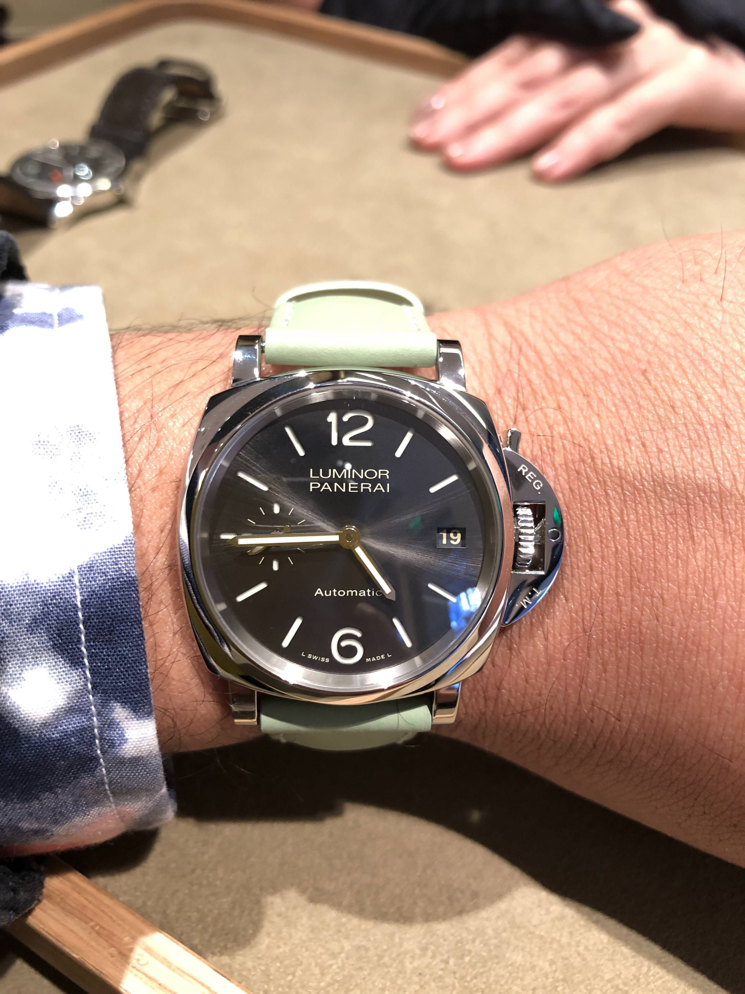 Panerai 38mm Luminor A Panerai For Smaller Wrists Watches In
