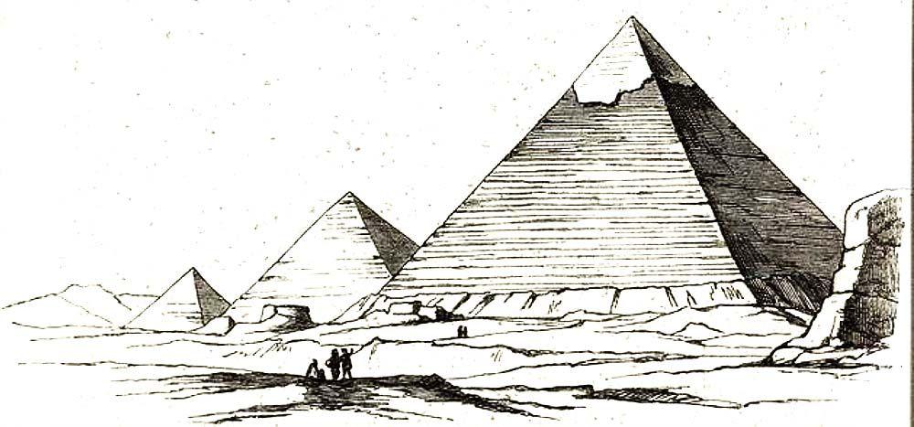 Restos Del Recubrimiento De La Piramide De Kefren Giza Architecture Drawing Egyptian Art Egypt