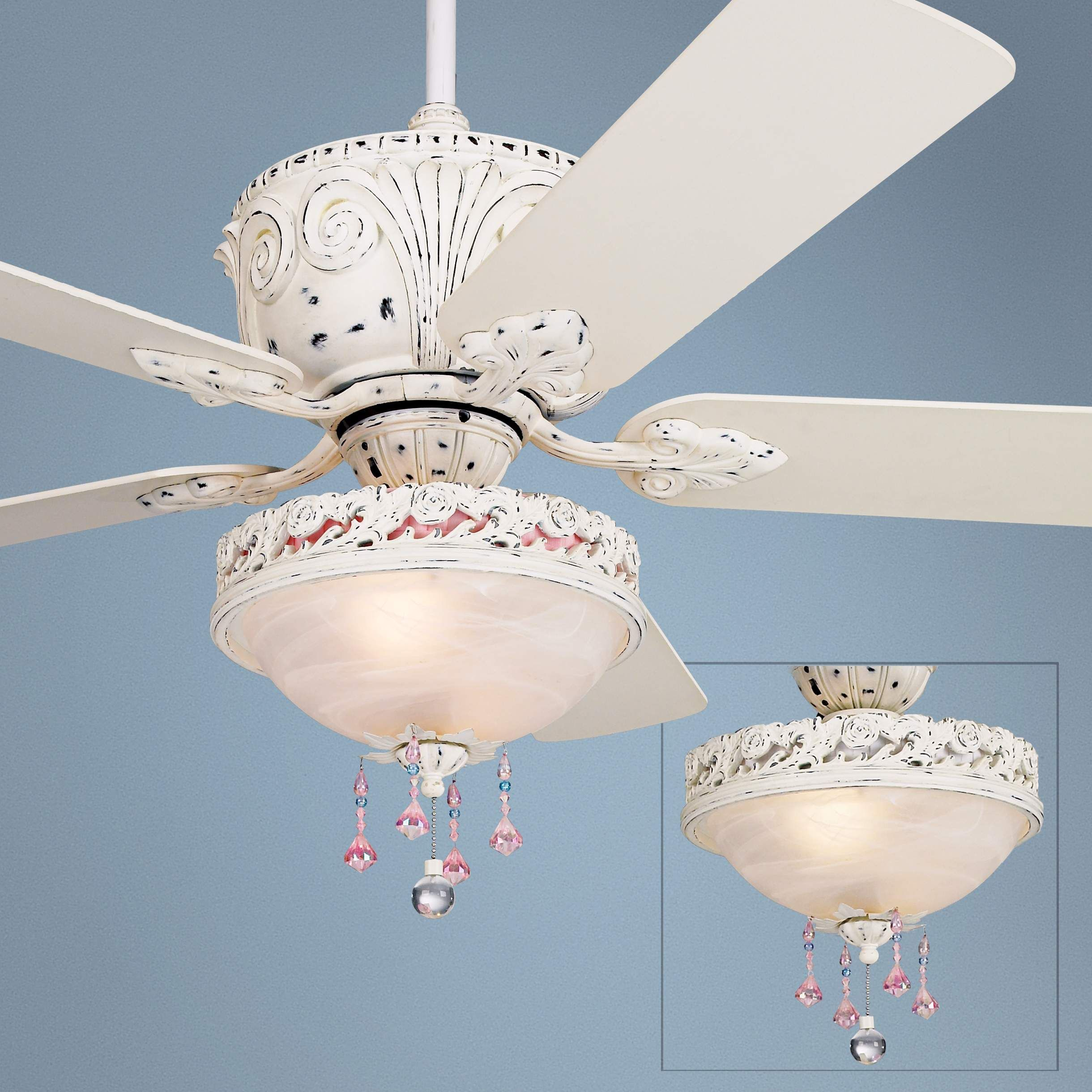 inch elegant white fans lights with appealing fan crystals crystal lighting chandelier kit light and ceiling for laure fancy blade