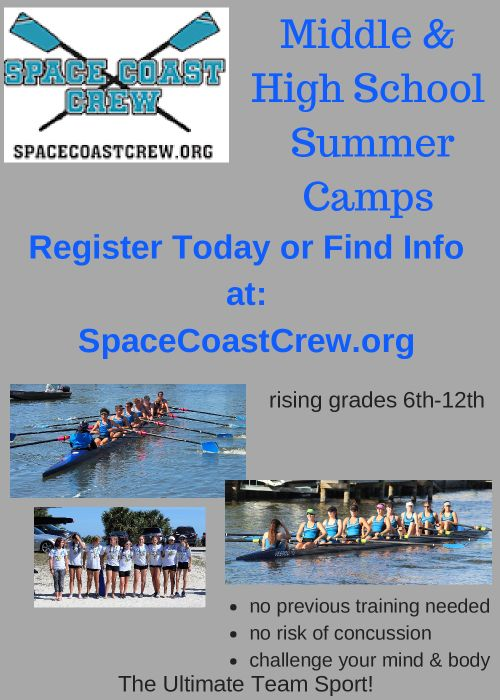Space Coast Crew Middle High School Summer Rowing Camps Sports