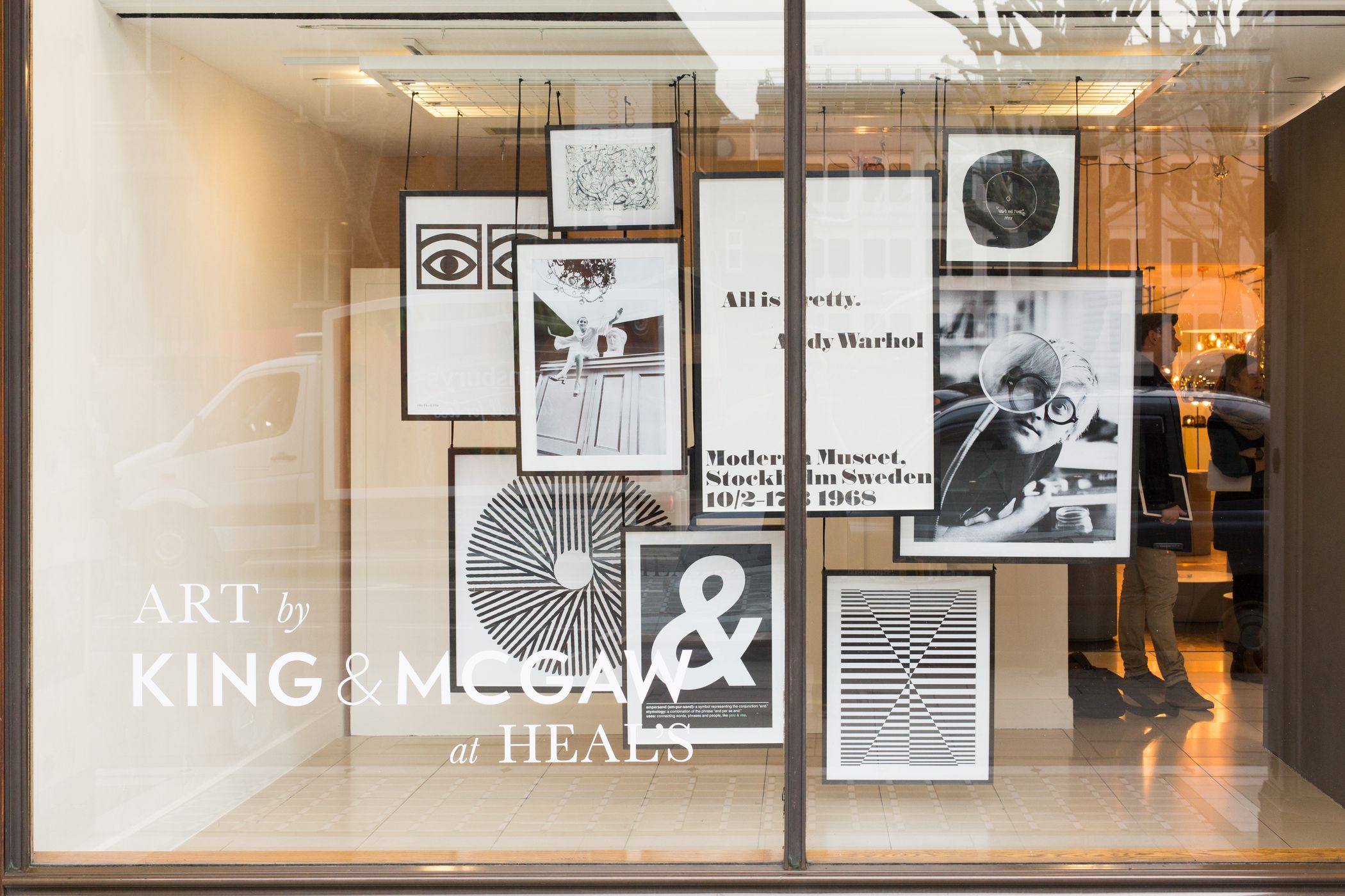 King Mcgaw Fine Art Prints Window Display At Heal S Tottenham Court Road To Celebrate Their Launch In St Contemporary Furniture Design Window Display Design