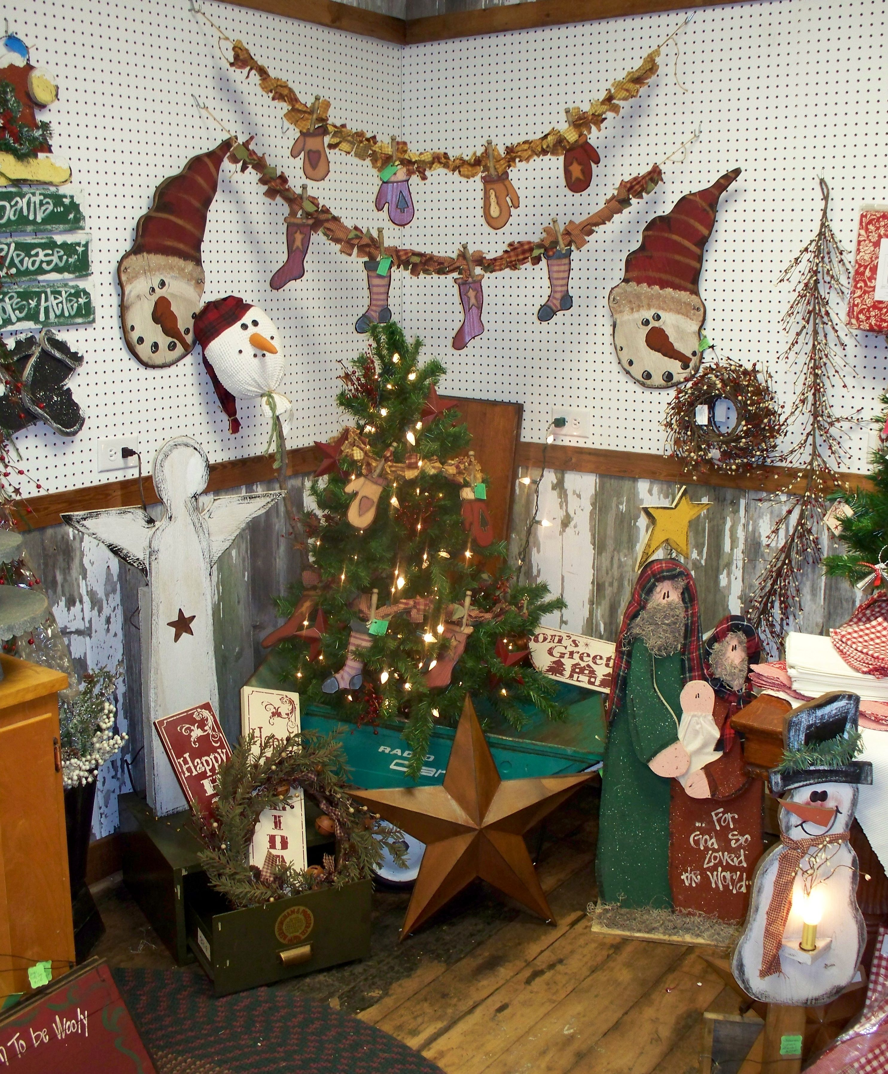 Country Christmas Craft Ideas Part - 17: Country Christmas Decor