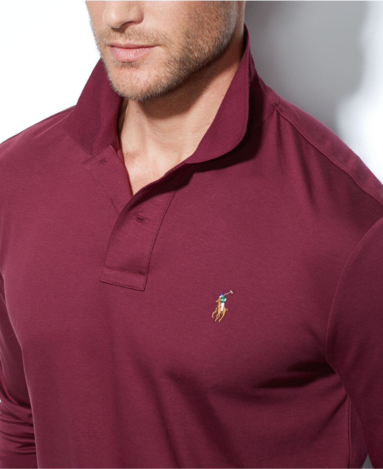 162f0da03d50 lyst polo ralph lauren soft touch pima polo in red for men