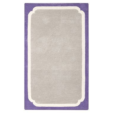 Color Pop Border Rug, Purple #pbteen Kate's Room