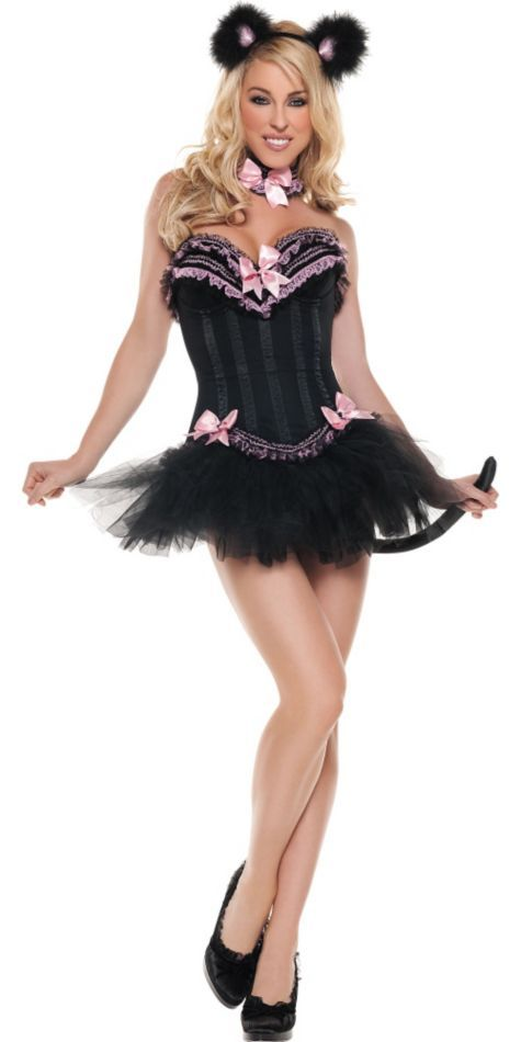 Adult Carousel Kitty Cat Costume - Clearance Costumes - Sexy ...