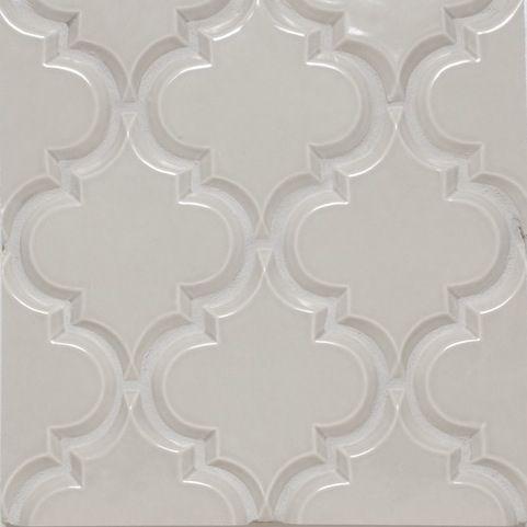 Beveled Arabesque Tile Vento Grey My Home look Pinterest