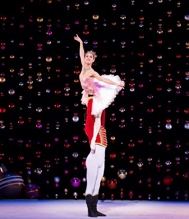 Erik Cavallari as the Prince with Sophie Martin as the Sugar Plum Fairy in Scottish Ballet's The Nutcracker. Photo: © Andy Ross