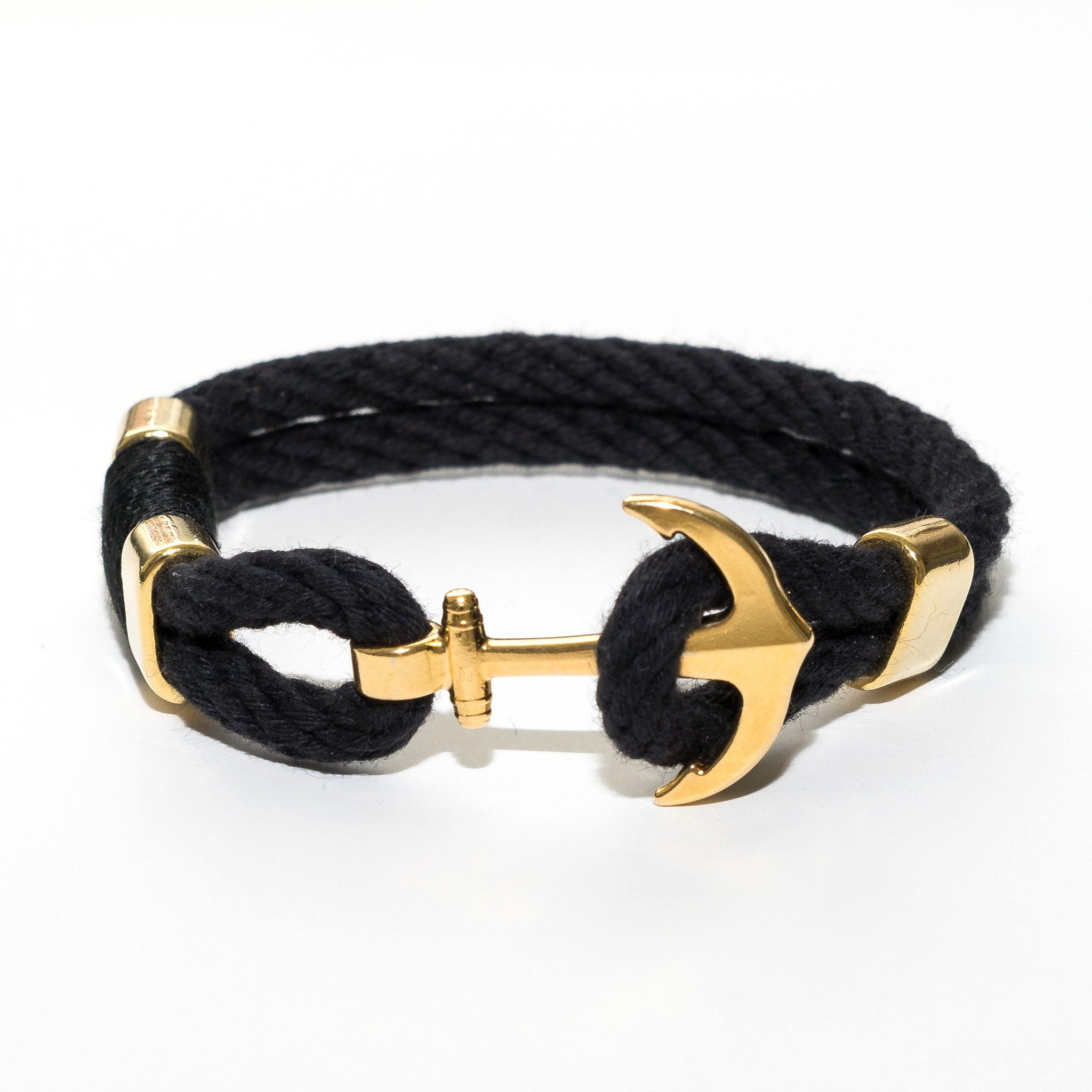 en gold collection black in stone lava bracelet and onyx thunderbolt