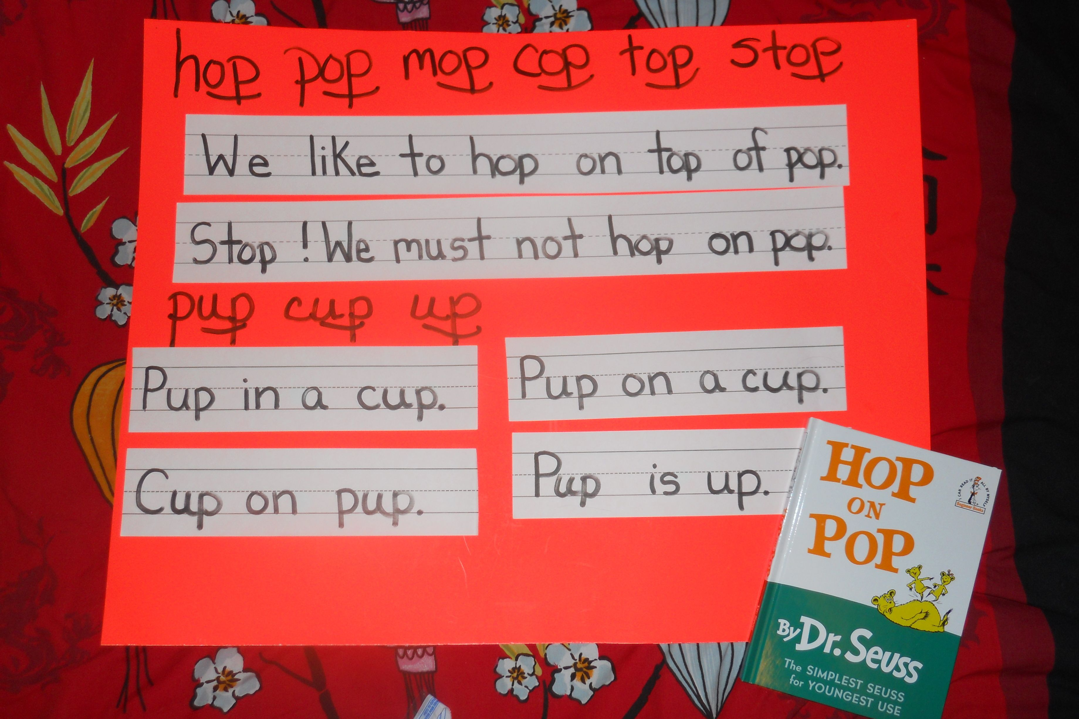 Lesson On Short Vowels And Word Families Using Hop On Pop