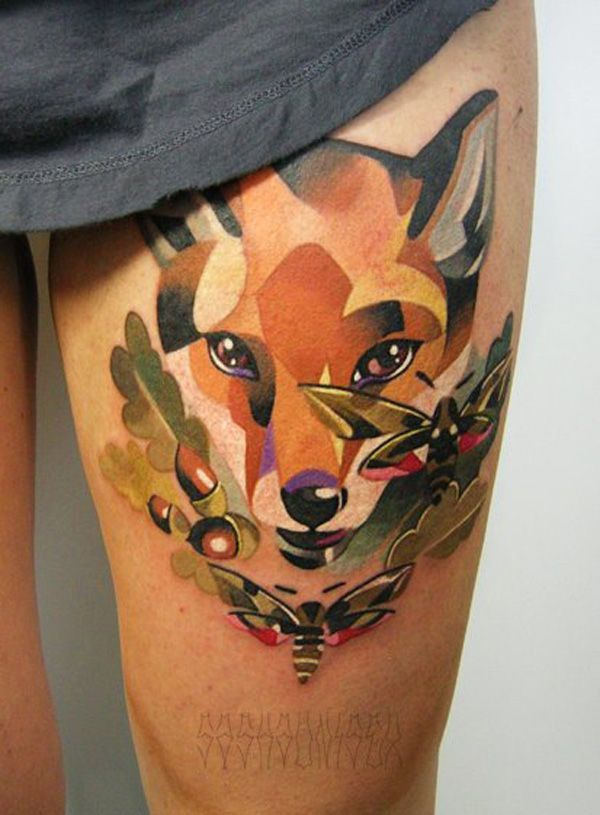Body Tattoo S Fuchs Tattoo Tatuirovki Lisy Akvarelyu