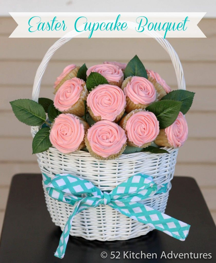 Cupcake Bouquet Tutorial With Video | Easter cupcakes, Cake and Cup ...