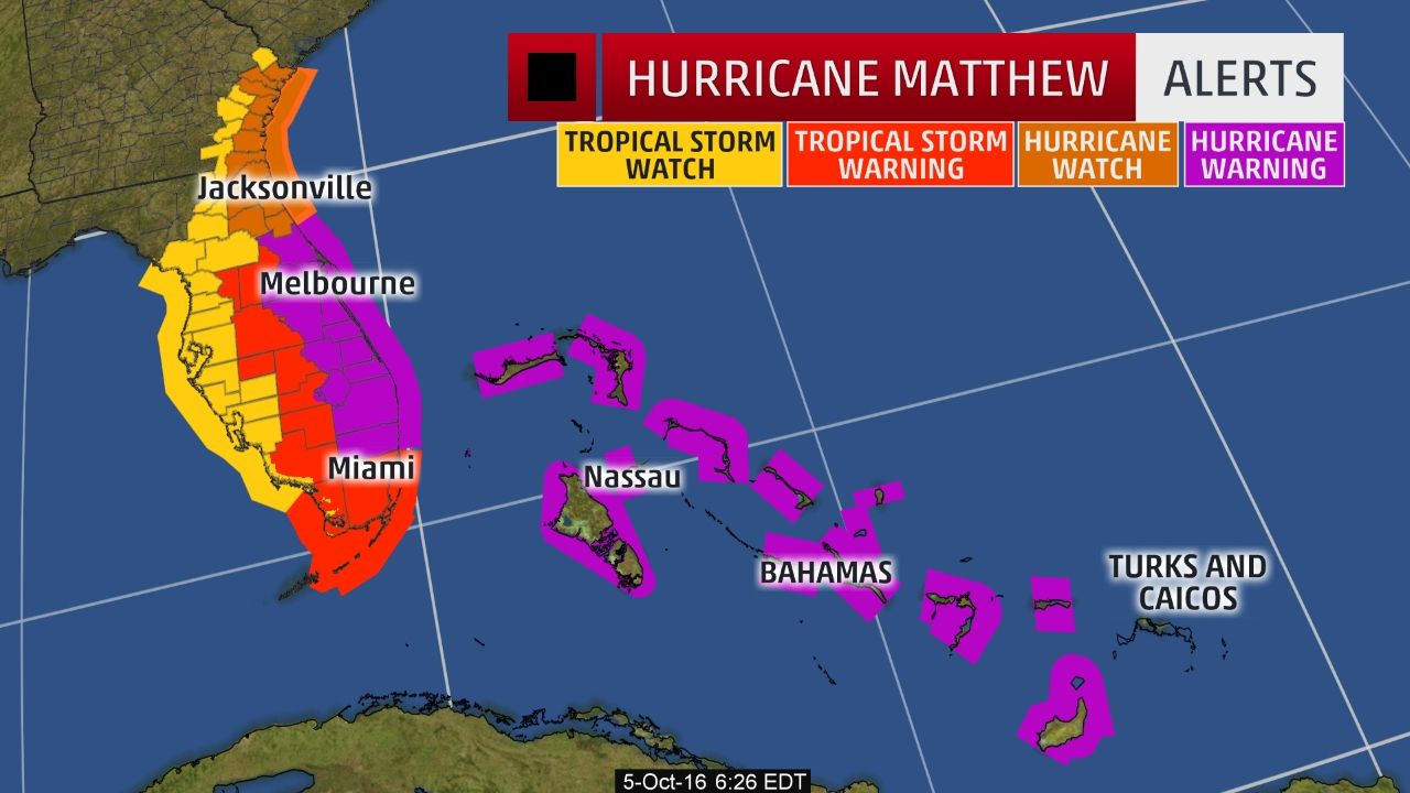 Hurricane Matthew May Be Rare Major Hurricane Strike To Florida East Coast Conditions Deteriorating In Bahama Florida East Coast Hurricane Matthew The Weather Channel