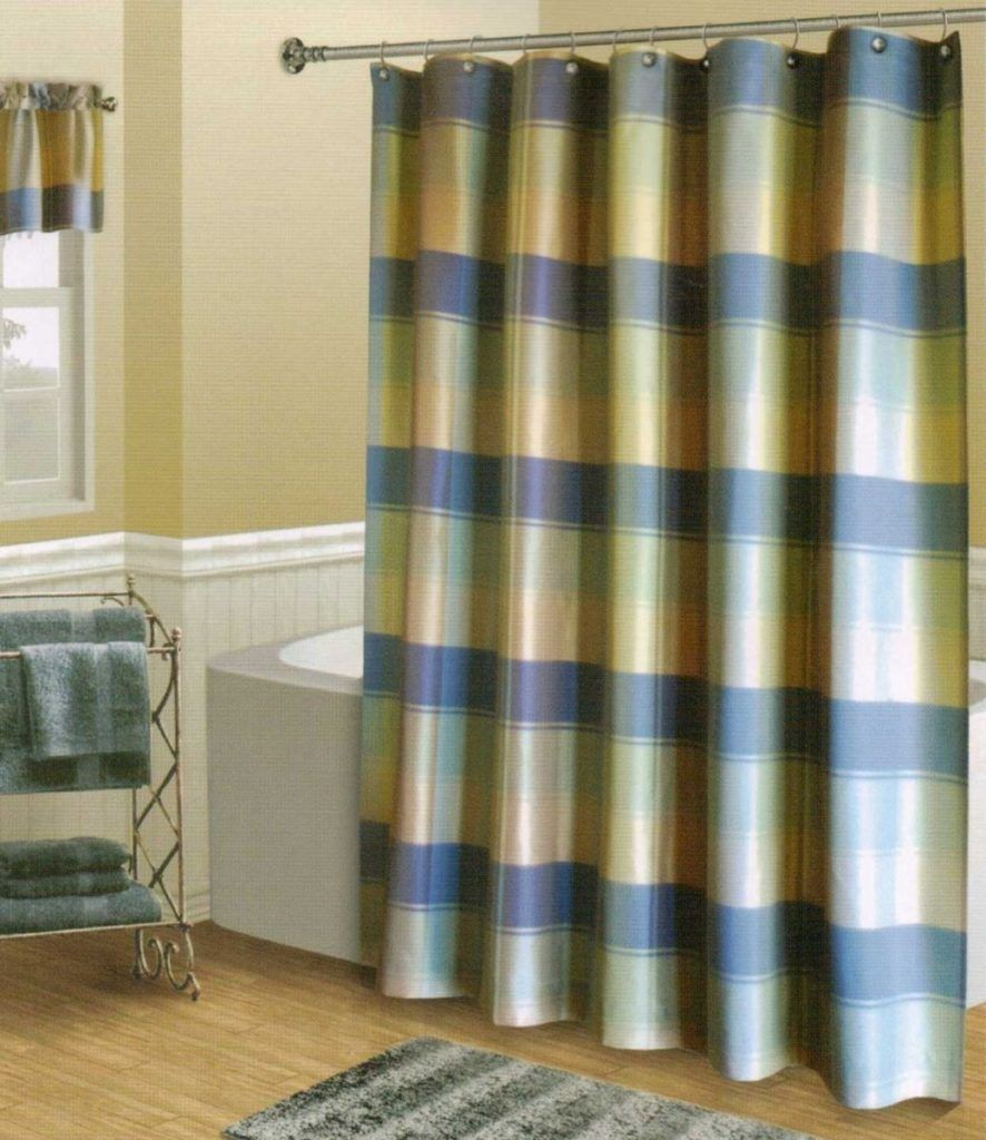 Yellow And Blue Plaid Shower Curtain | Shower Curtain | Pinterest ... | title | yellow and blue plaid shower curtain